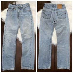 Vintage Levi's 501 Button Fly High Rise Mom Jeans